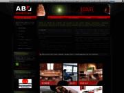 screenshot http://www.ab-mobilier.fr/ aménagement bureau design sur mesure, nord 59