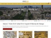 screenshot https://www.abacor.fr Bureau de change