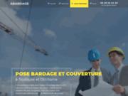 screenshot http://abardage.fr/ Pose de bardage et couverture