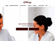 screenshot http://www.abscisseagency.com abscisse agency, agence d' hotesses à paris