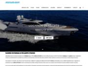 screenshot http://www.absoluteboat.com/ location de bateau à Cannes