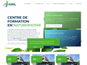 screenshot https://www.academie-naturopathie.lu cours de naturopathie