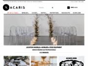 screenshot http://www.acaris.fr Location de Matériel pour Réceptions