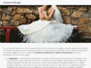 screenshot http://www.accessoire-mariage.com/ organisation d'événements: jaya events