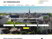 screenshot https://www.acimmobilier45.fr/ agence immobilière à Montargis 45200