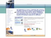 screenshot http://acp34.fr chauffagiste plombier montpellier