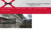screenshot http://www.acrobatx.fr les travaux acrobatiques et d'accès difficiles