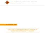 screenshot http://www.acroroc.com canyoning escalade via ferrata parc haut languedoc