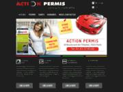 screenshot http://www.action-permis.fr action permis la clef de votre réussite.