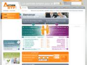 screenshot http://www.actionbtp.com action btp, la centrale emploi du btp sur internet
