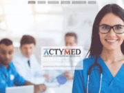 screenshot http://www.actymed.com actymed - gestion d'entreprise médicale