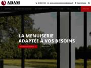 screenshot http://www.adamsas.fr adam sas - menuiseries pvc, bois, aluminium, acier, portes de garage, escaliers