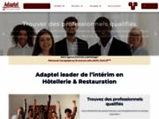 screenshot http://www.adaptel.fr intérim hôtellerie