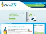 screenshot http://www.adg29.fr assistance dépannage gaz 29