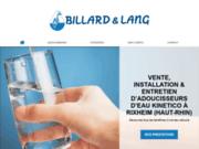 L'entreprise experte en traitement de l'eau Billard et Lang à Rixheim