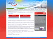 screenshot http://www.adpe-dijon.fr/ adpe climatisation - pompe à chaleur dijon