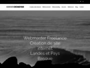 screenshot https://www.adriendemeyer.com Webmaster Bayonne Biarritz Dax
