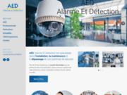 screenshot http://www.aed-securite.fr/ installation systeme de video surveillance