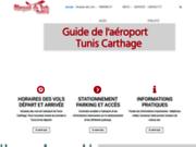 screenshot http://aeroport-tunis.com/ Horaires des vols de l'aéroport de Tunis Carthage