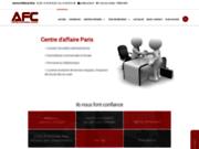 screenshot http://www.afc.fr domiciliation commerciale à paris – afc