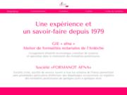 screenshot http://www.afna.fr/ atelier de formalités notariales de l'ardèche