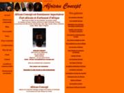 screenshot http://www.african-concept.com art africain : african concept est fournisseur d'art africain ,