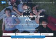 screenshot http://www.afsbelgique.be immersion linguistique et culturelle à l'étranger