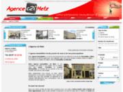 screenshot http://www.agence-immobiliere-c2i-metz.fr/ vente de maison, appart a vendre en moselle,
