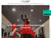 screenshot http://www.agencecmc.com cmc, agence d'animation et de communication