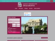 screenshot http://www.agencedesjardins.fr agence immobiliere desjardins