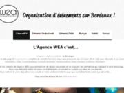 screenshot https://www.agencewea.com/ Agence événementielle