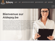 screenshot http://www.aidepsy.be psychothérapeute - mons et tournai - belgique