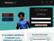 screenshot http://www.aile-medicale.fr aile médicale : intérim, cdi, cdd , libéral