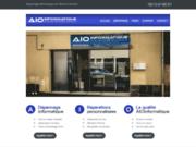 screenshot http://www.aioinformatique.fr/ Réparation, assistance et dépannage à domicile sur Clermont-Ferrand.