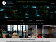 screenshot http://www.aires-entreprises.com lyon immobilier de bureaux, locaux d'entreprise à vendre ou louer