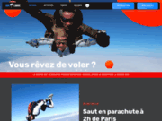 Saut parachute air libre