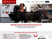 screenshot http://www.aj-advance.com/ vente de logiciel caisse et caisse enregistreuse