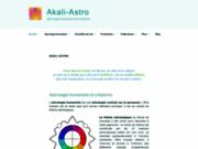 screenshot http://www.akali-astro.com akali astrologie humaniste et créations