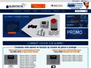 screenshot http://www.alarmania.fr alarmania, le spécialiste des alarmes maison