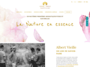 screenshot http://www.albertvieille.com AlbertVieille, huiles essentielles et matières premières aromatiques.