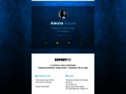 screenshot http://www.alexiasavva.fr alexia savva, développement et intégration web
