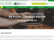 screenshot http://www.alfa.fr domicilation d'entreprise rouen - alfa affaires
