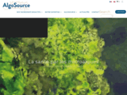 screenshot http://www.algosource.com algosource, le spécialiste de la  micro-algue
