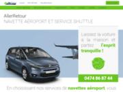 screenshot http://www.allerretour.be Navette aéroport