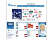 screenshot http://www.alnaaerodistribution.com Gestion et Distribution des produits chimiques