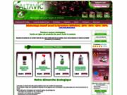 screenshot http://www.altavic-bio.com altavic-bio: peinture bio auro - peinture naturelle auro - vente en ligne de produits bio pour toute la maison
