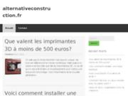 screenshot http://www.alternativeconstruction.fr maisons bbc quimper : alternative construction