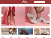 screenshot http://alysseshop.com Boutique de chaussures et baskets
