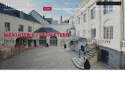 screenshot http://www.alzon-menuiserie.com/ entreprise de menuiserie et ébénisterie, 37