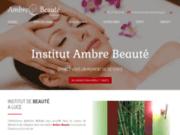 screenshot http://www.ambrebeaute.com Ambre Beauté